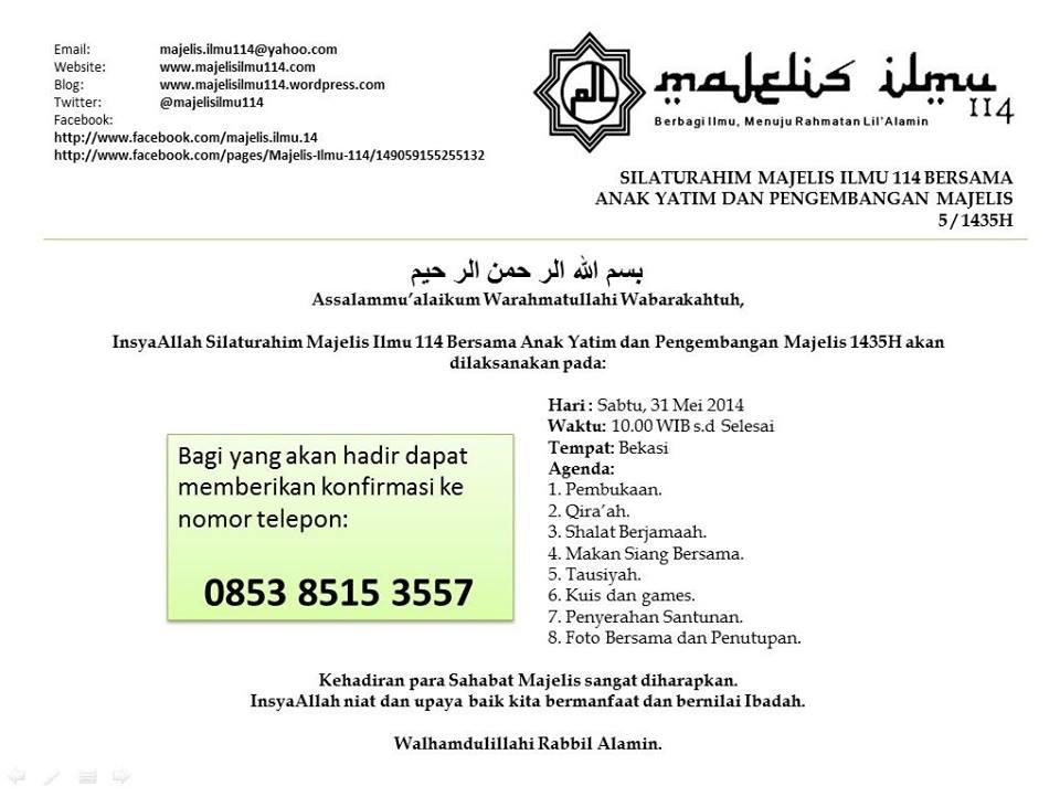 undangan silaturahim mi 114 bersama anak yatim 1435h